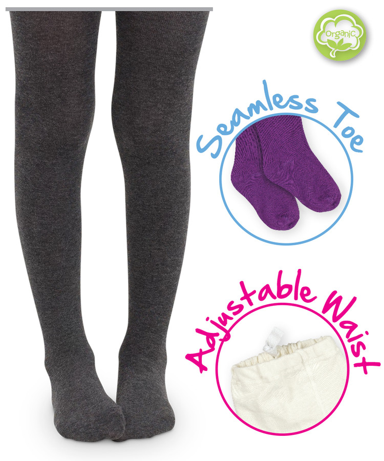 Seamless Organic Cotton Tights with adjustable waist
