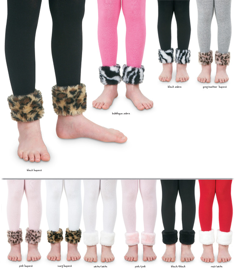 Fur Footless Kids Tights