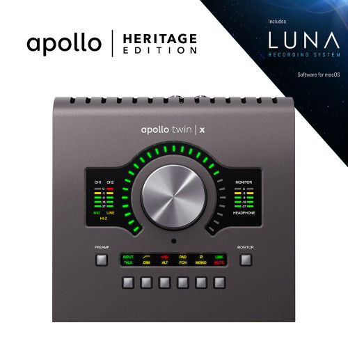 Apollo Twin X  QUAD Heritage Edition (Desktop/Mac/Win/TB3)