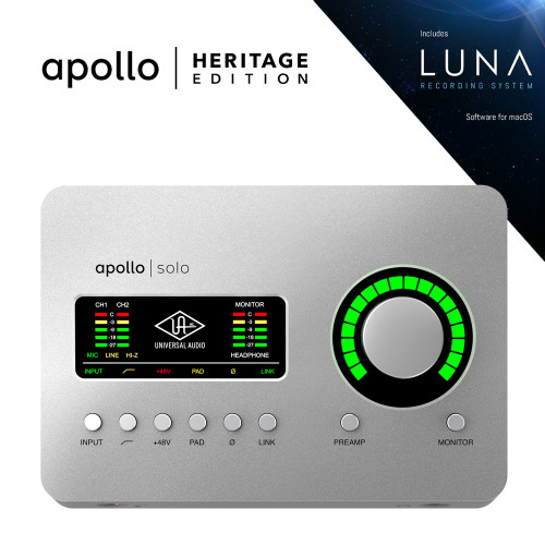 Apollo Solo USB Heritage Edition (Desktop/Mac/Win/TB3)