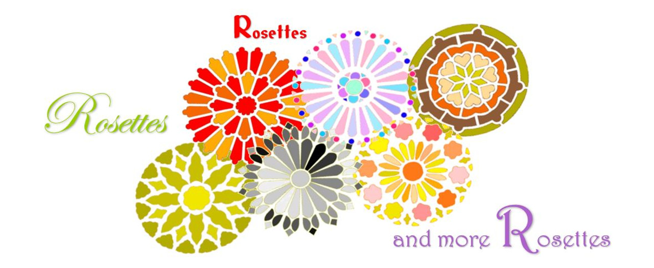 Rosette Flourishes for Mixed Media Arts & DIY Home Decor Tile Painting