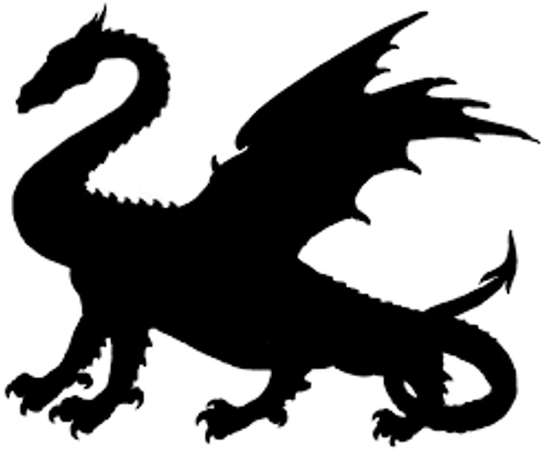 Reusable Stencils, Dragons, Medieval Mythical Beasts