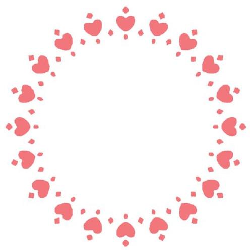 Reusable Stencils, Wreath of Hearts