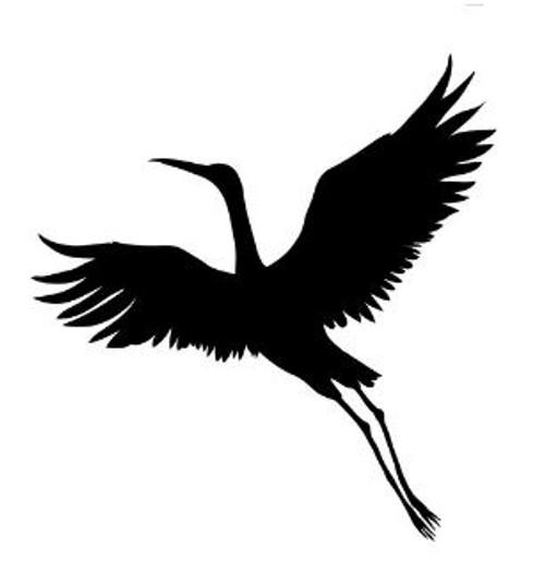 Reusable Stencils, Flying Crane, Large Birds