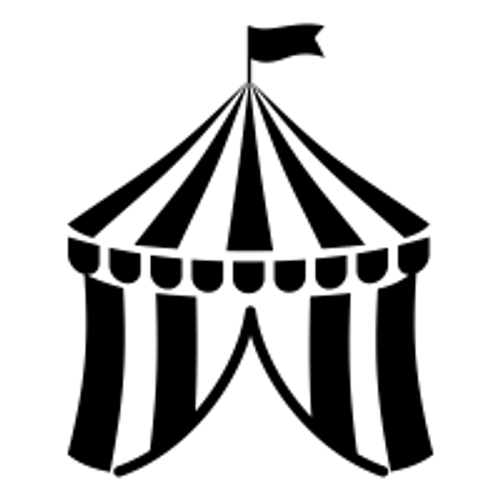 Reusable Stencils, Circus Tent, Bigtop, Fair, Carnival Tents