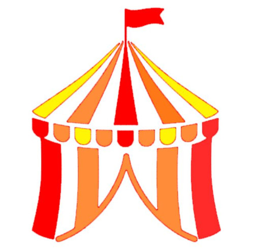 Reusable Stencils, Colorful Circus Tent, Bigtop, Fair, Carnival Tents.