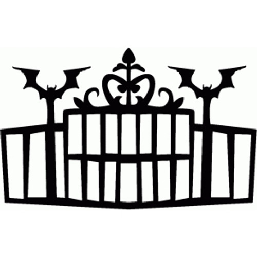 Reusable Stencils, Halloween Spooky Gates, Bats, Eyeballs, Haunted House Gateway