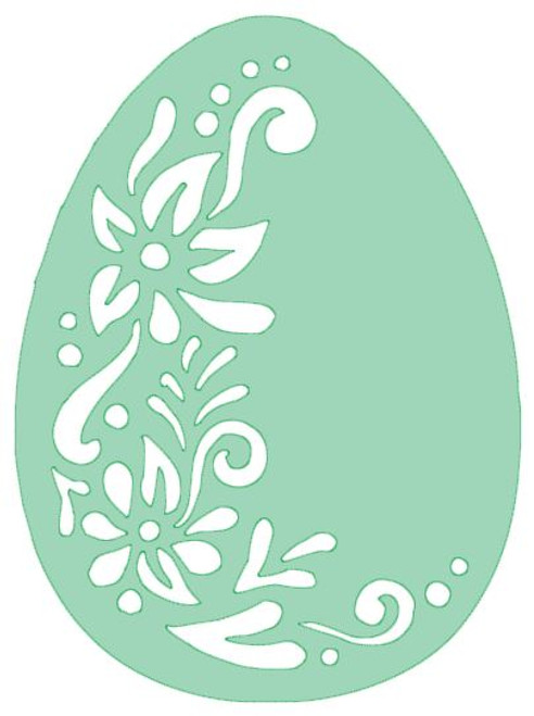 Reusable Stencils: Easter Egg with Filigree Decoration