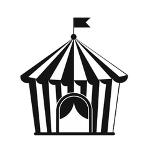 Reusable Stencils, Circus Bigtop, Tent, Carnival, Faire Tents