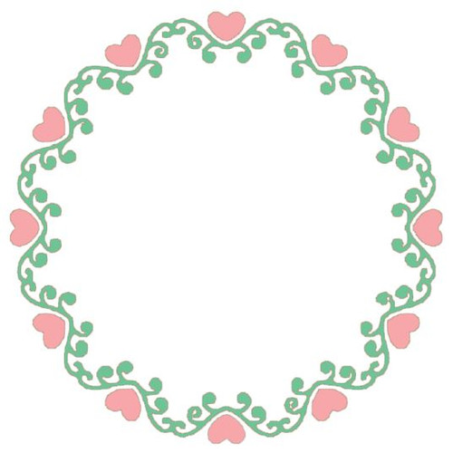 Reusable Stencils, Wreath of Hearts, Frame.