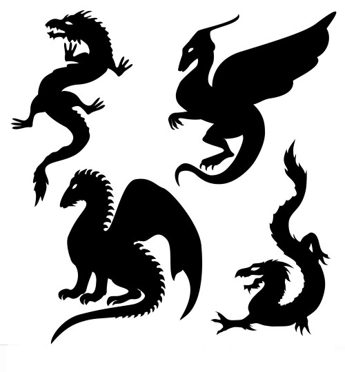 Reusable Stencils, Dragons, Monsters, Mythical, Medeival, Fantasy