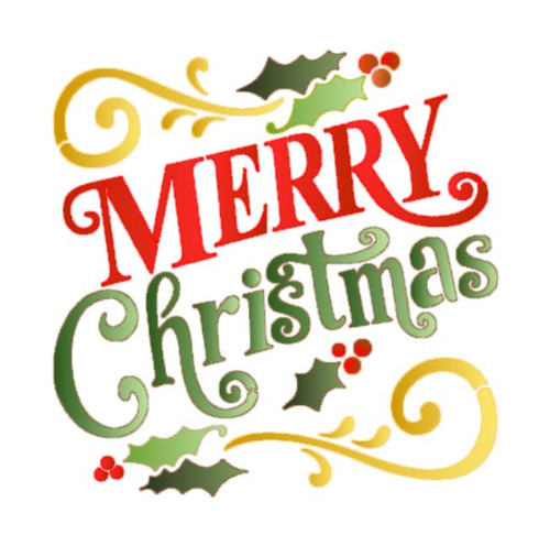 Reusable Stencils, Merry Christmas sign, Xmas holiday decorating