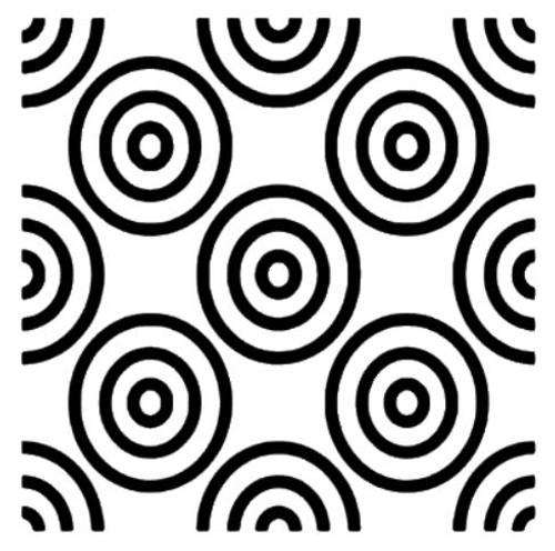 Reusable Stencils #0506,  Spiral background,  targets, Archimedean spiral