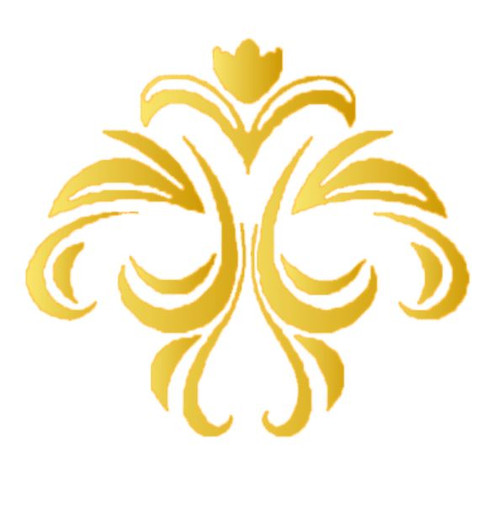 Reusable Stencils, Flourish Motif in Gold