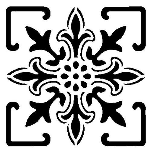 Reusable Stencils, Tile Flourish Design