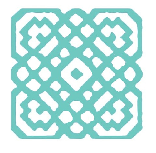 Reusable Stencils, Lattice Tile Design