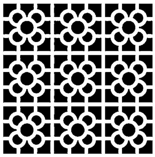 Reusable Stencils, Repeat Pattern Floor Tile Motifs