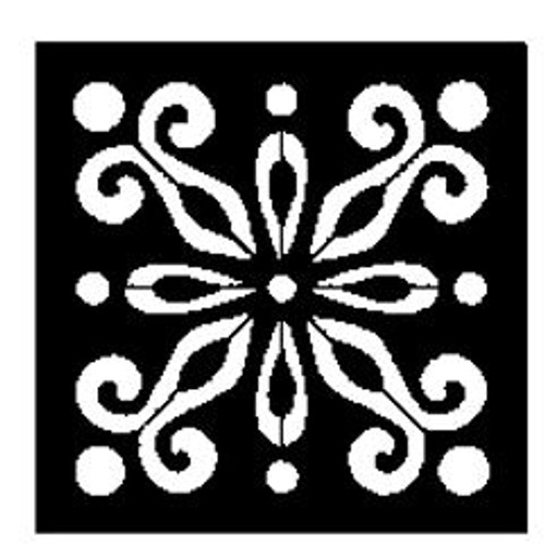 Reusable Stencils, Flourish Tiles, Floor Tile Motifs