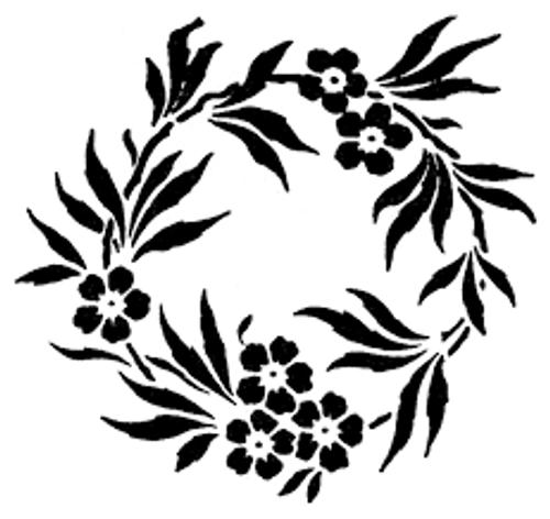 Reusable Stencils, Laurel Floral Wreaths