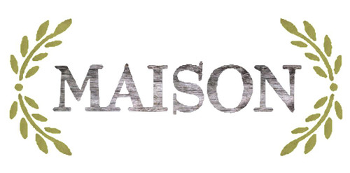 Reusable stencils: Maison with laurels.