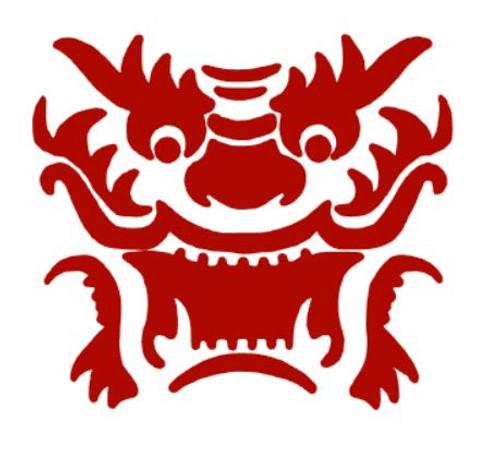 Reusable Stencils, Asian Dragon Masks