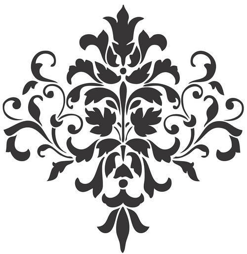 Reusable Stencils, Baroque French Flourishes