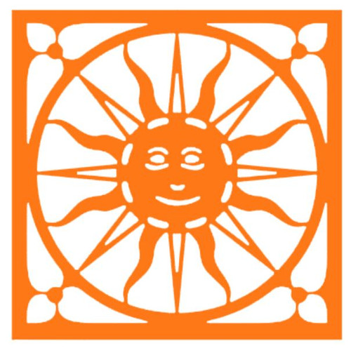 Vinyl Decals , Southwest Sun Face.  Available in multiple colors.