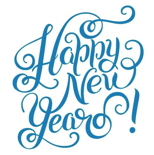 Reusable Stencils: Happy New Year