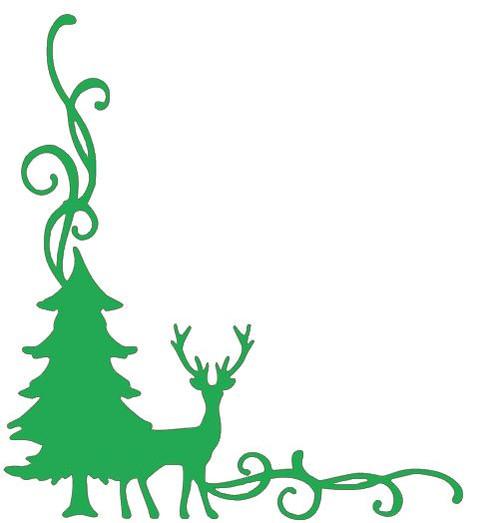 Reusable Stencils: Christmas Holiday Decor Corner Flourish