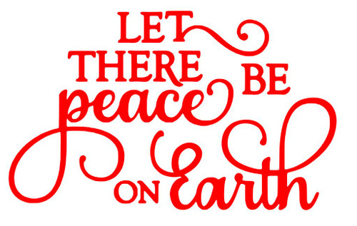 Reusable Stencils: Christmas Holiday Decor, Let There Be Peace On Earth Sign