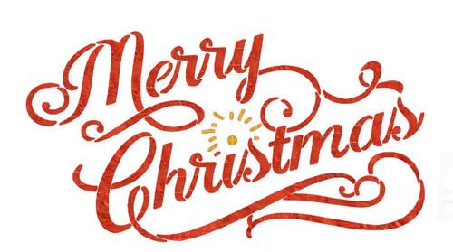 Reusable Stencils: Christmas Holiday Decor, Merry Christmas Sign