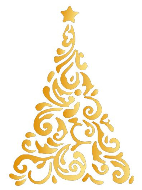 Reusable Stencils: Christmas Holiday Decor, Decorative Christmas Tree