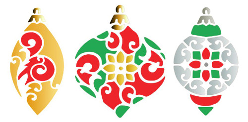 Reusable Stencils: Christmas Holiday Decor, Decorative Christmas Tree Ornaments
