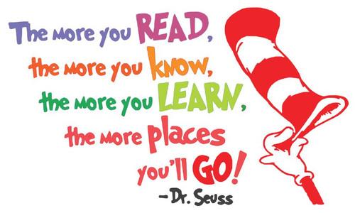 Reusable Stencils: Dr. Seuss Quote