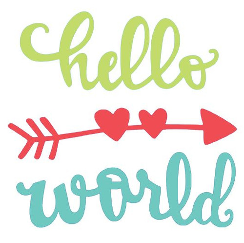 "Reusable Stencils: ""Hello World"""
