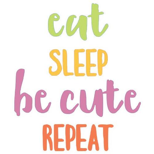 "Reusable Stencils: ""Eat, Sleep, Be Cute, Repeat"", new baby nursery sign decor."
