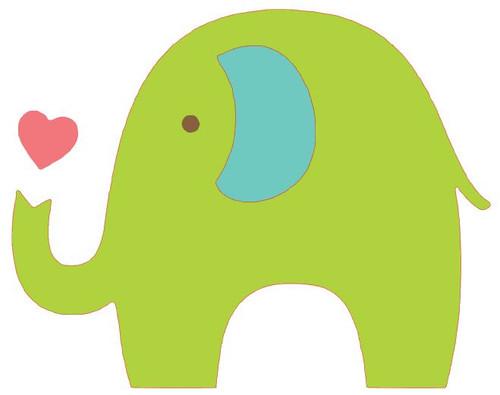 Reusable Stencils: Baby Elephant Nursery Decor or Onesie Design