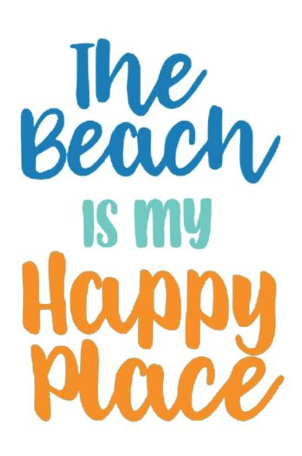 """Reusable Stencils: """"The Beach Is My Happy Place"""" Sign"""