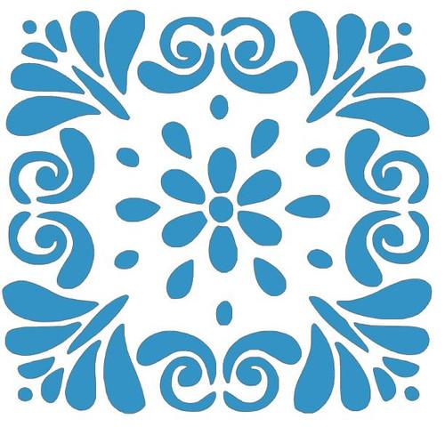 Reusable Stencils: Floral Tile
