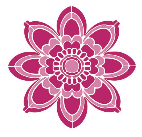 Reusable Stencils: Floral Tile Rosette Design