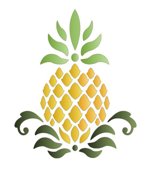 Reusable Stencils, Pineapples, Tropical Fruit, Culinary, Kitchen, Cuisine