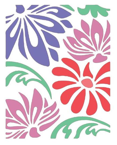 Reusable Stencils, Floral Pattern Background