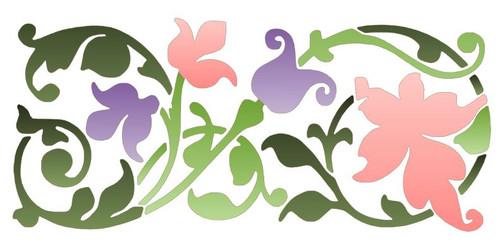 Reusable Stencils, Floral Vine Flourish