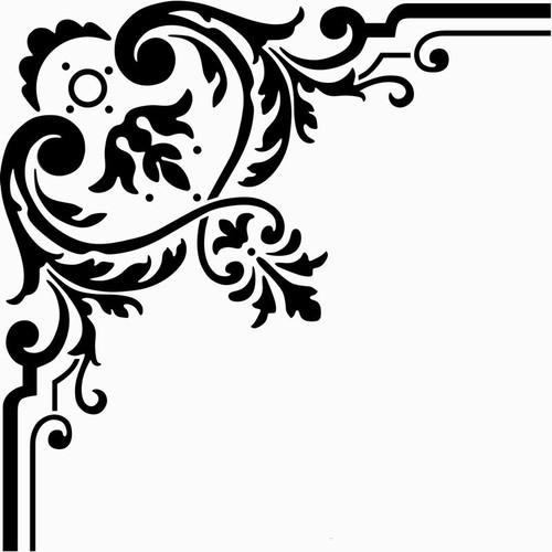Reusable Stencils, Filigree Flourishes, Corners, Borders