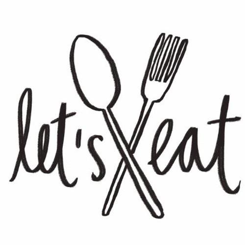 "Reusable Stencils, ""Let's Eat"" Cafe Signs, Kitchen Dining Signage"