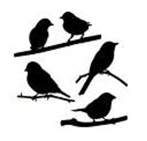 Reusable Stencils, Birds on Branches