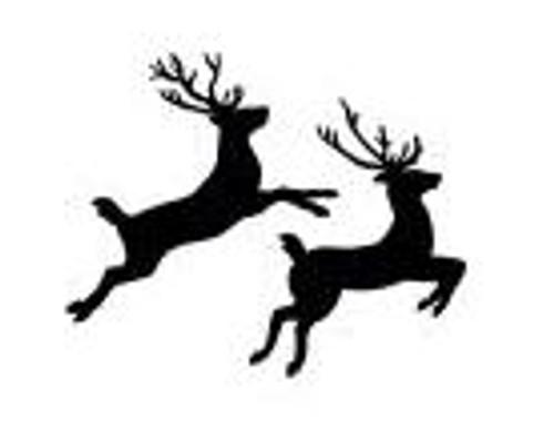 Reusable Stencils, Christmas Deer Head, Stag, Buck, Antlers