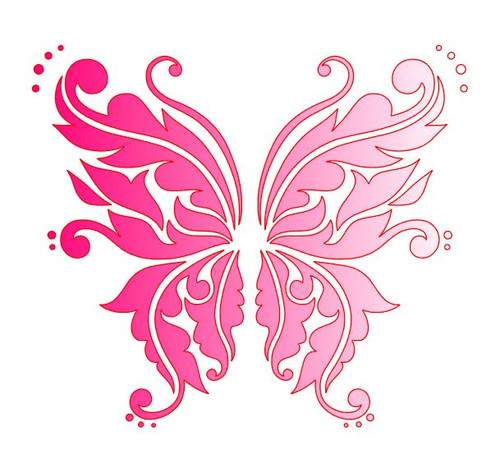 Reusable Stencils, Butterflies, Butterfly.