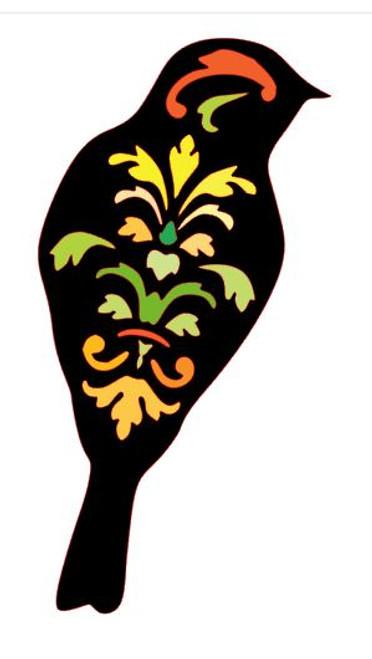 Reusable stencils: Decorative Bird.