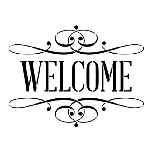 Reusable Stencils, Welcome Sign, Greeting